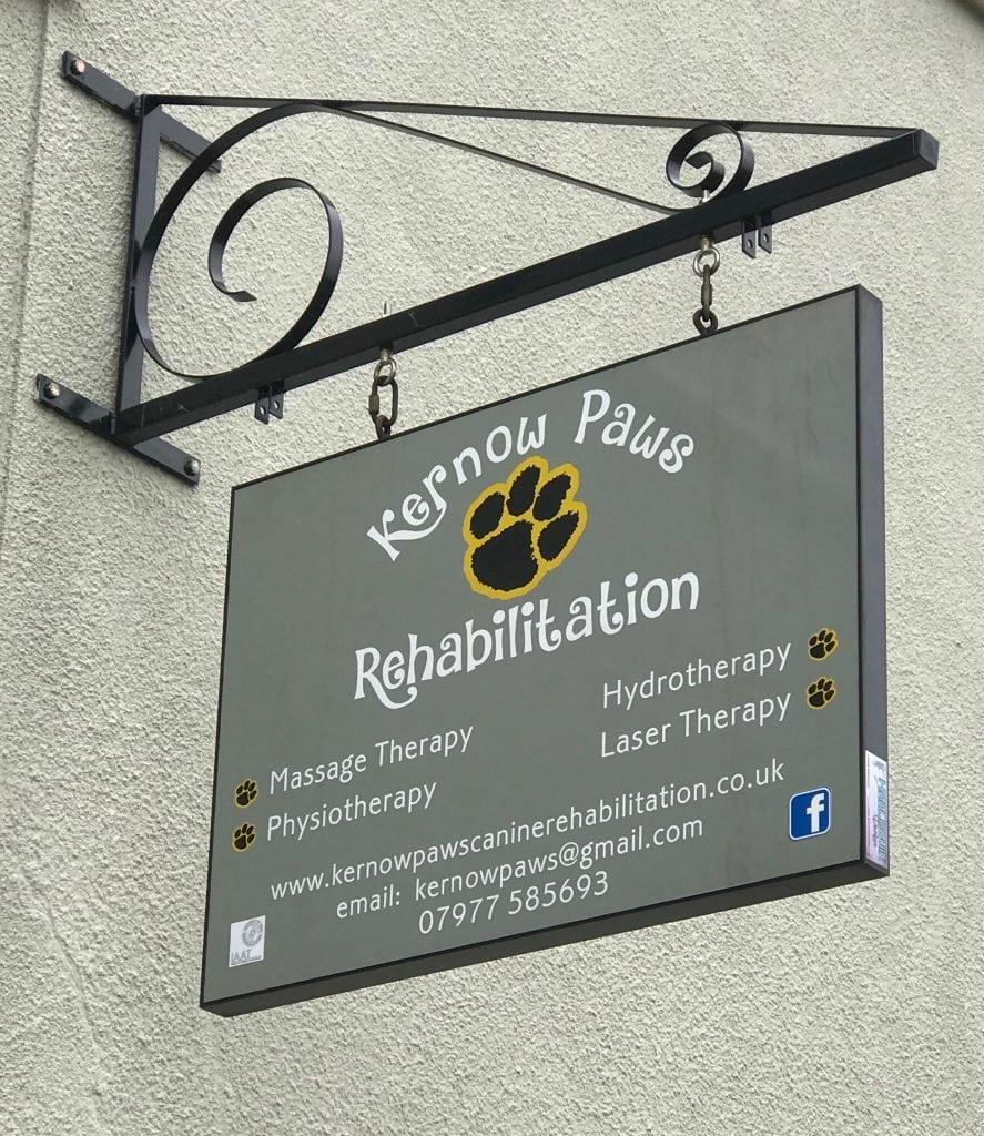 Kernow Paws Rehabilitation Sign