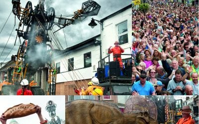 AN UPLIFTING DAY FOR EVERYONE WHEN MAN ENGINE CAME TO CAMBORNE