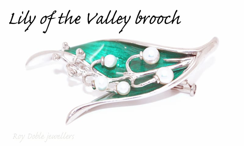 Lily of the Vally Broach